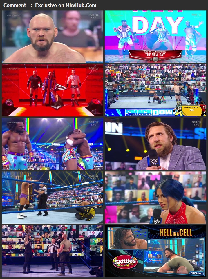 WWE Friday Night SmackDown 16 October 2020 720p HDTV x264 700MB Download