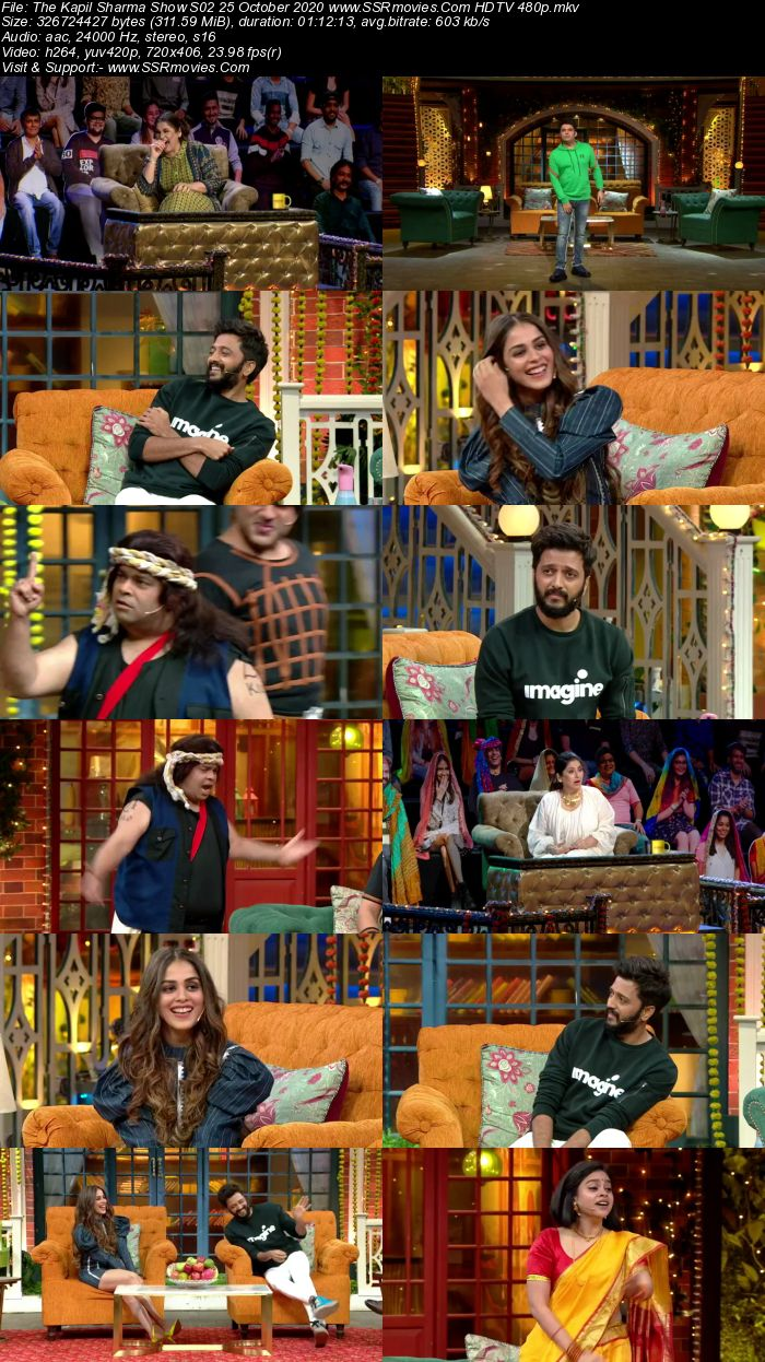 The Kapil Sharma Show S02 25 October 2020 Full Show Download HDTV HDRip 480p 720p