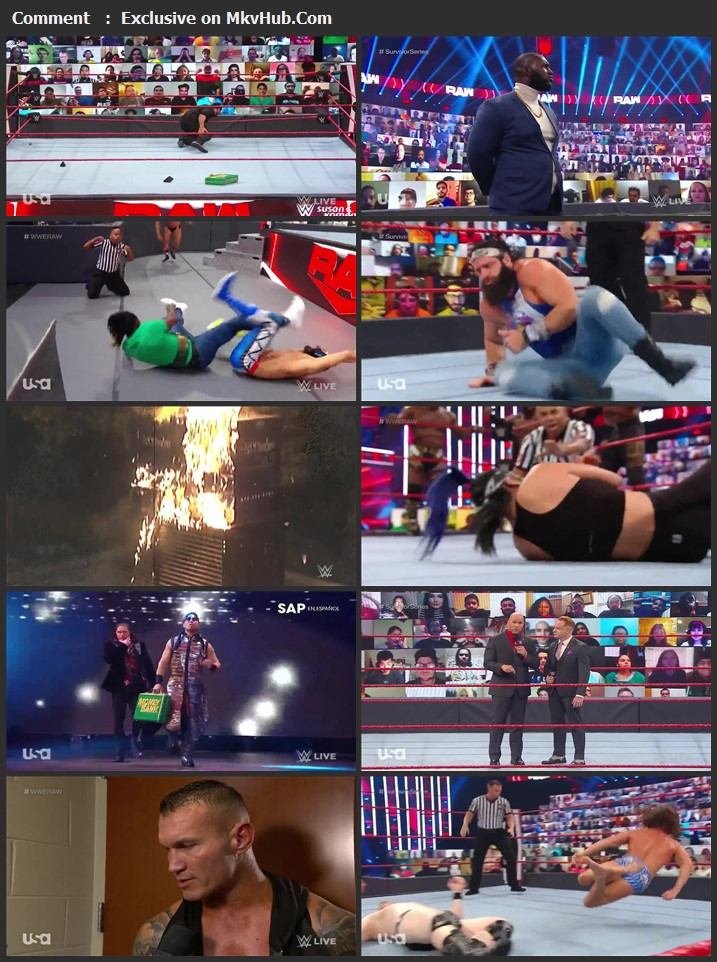 WWE Monday Night RAW 26 October 2020 720p HDTV x264 1.1GB Download