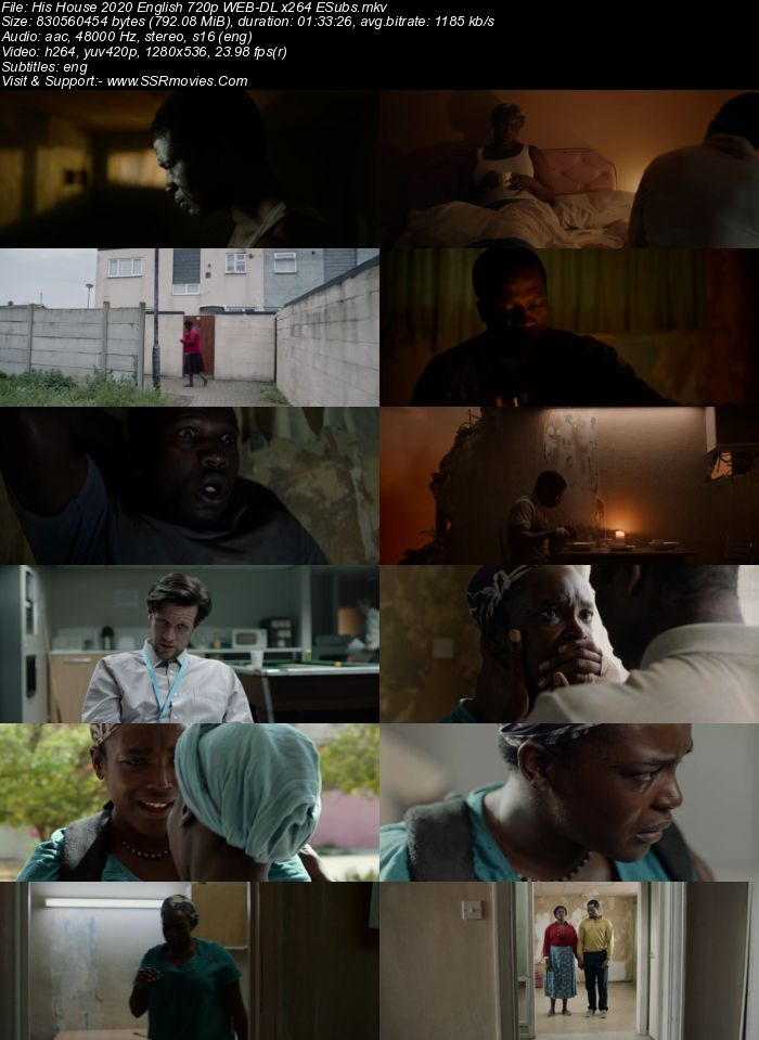 His House (2020) English 720p WEB-DL x264 800MB Full Movie Download