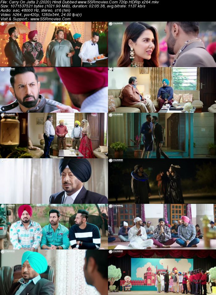 Carry On Balle Balle (2020) Hindi Dubbed 720p HDRip x264 1GB Full Movie Download