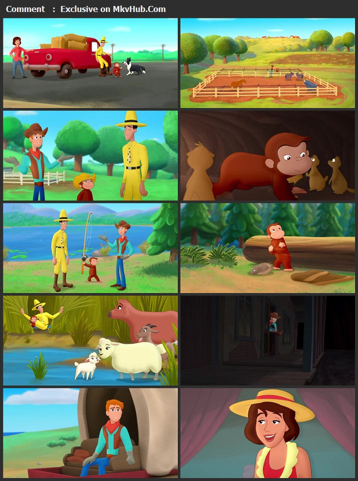 Curious George: Go West, Go Wild 2020 English 720p WEB-DL 750MB Download