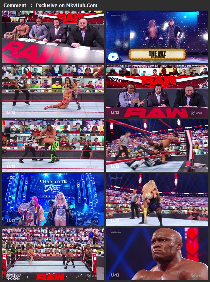 WWE Monday Night RAW 28 December 2020 720p HDTV x264 1.1GB Download