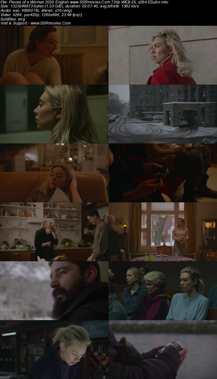 Pieces of a Woman (2020) English 480p WEB-DL x264 400MB ESubs Full Movie Download