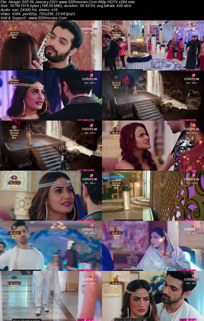 Naagin S05 9th January 2021 HDTV 480p 720p 200MB Download