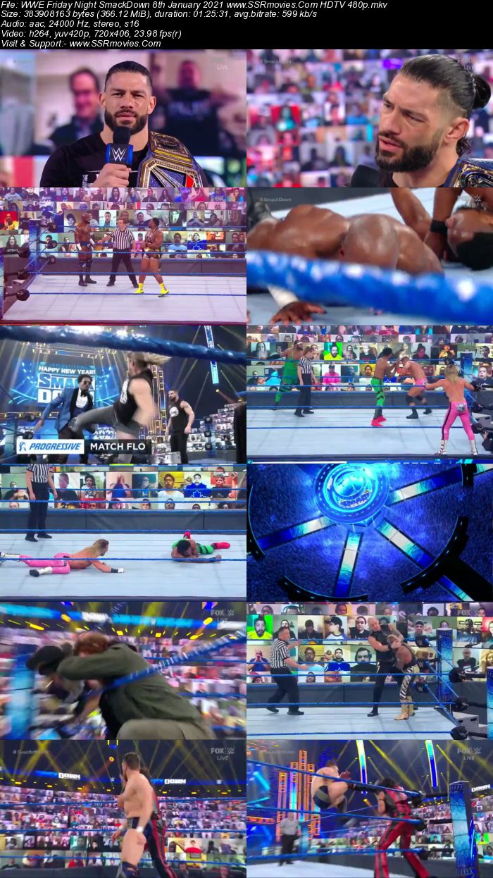 WWE Friday Night SmackDown 8th January 2021 Full Show Download