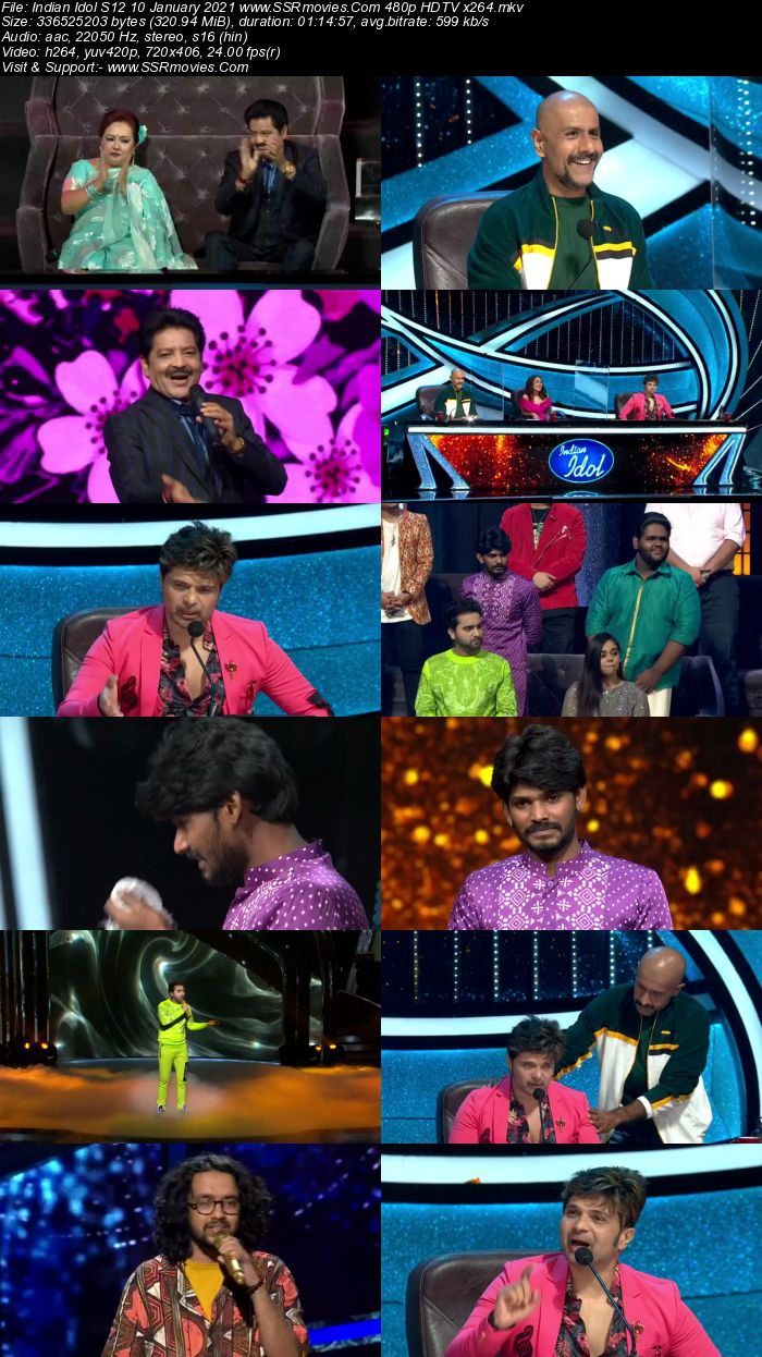 Indian Idol 10th January 2021 480p 720p HDTV x264 300MB Download