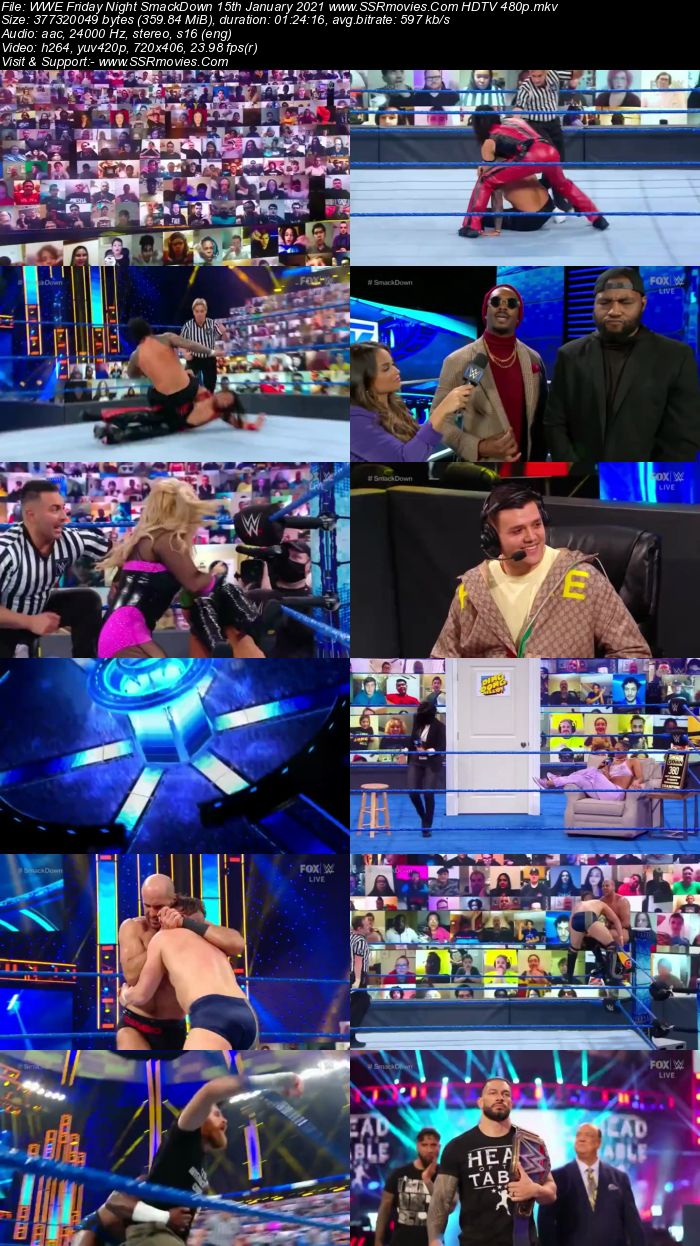 WWE Friday Night SmackDown 15th January 2021 Full Show Download