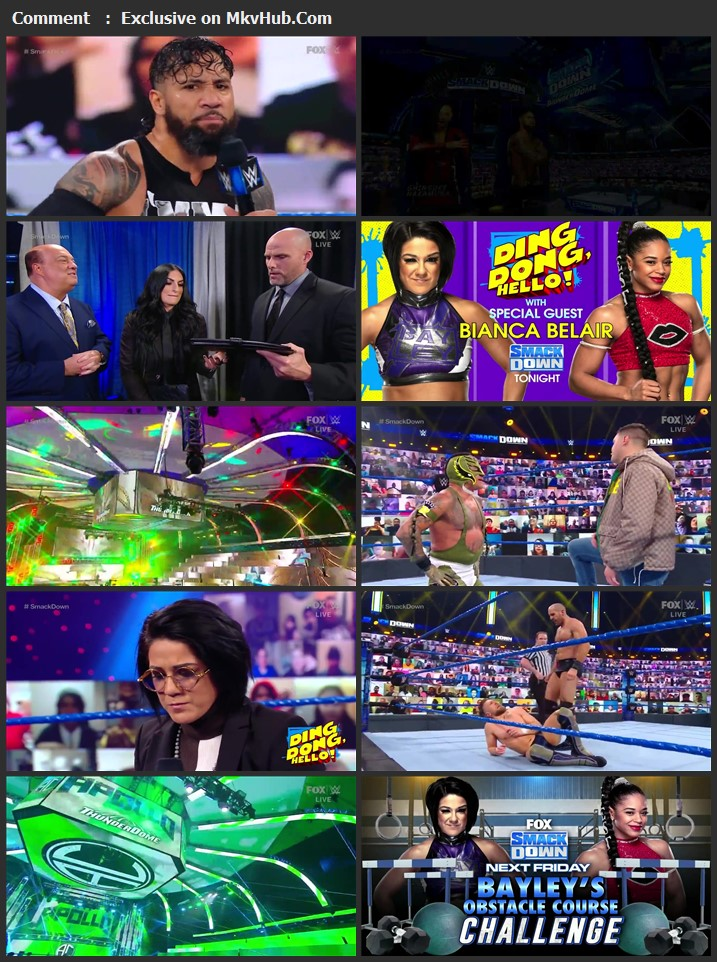 WWE Friday Night SmackDown 15 January 2021 720p WEBRip 750MB Download