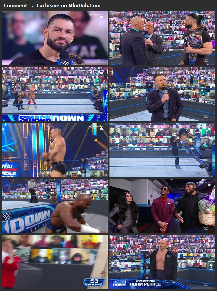 WWE Friday Night SmackDown 22 January 2021 720p WEBRip 750MB Download