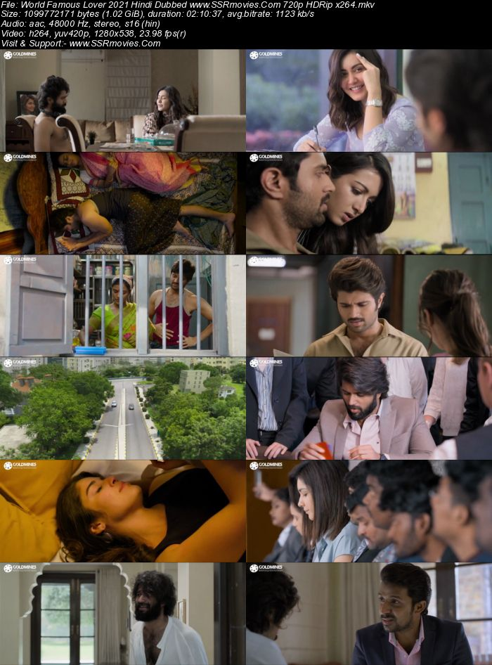 World Famous Lover (2021) Hindi Dubbed 720p HDRip x264 1GB Full Movie Download