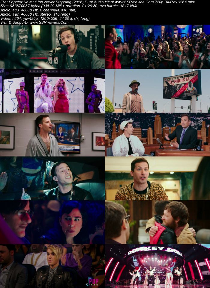 Popstar: Never Stop Never Stopping (2016) Dual Audio Hindi 720p BluRay x264 900MB Full Movie Download