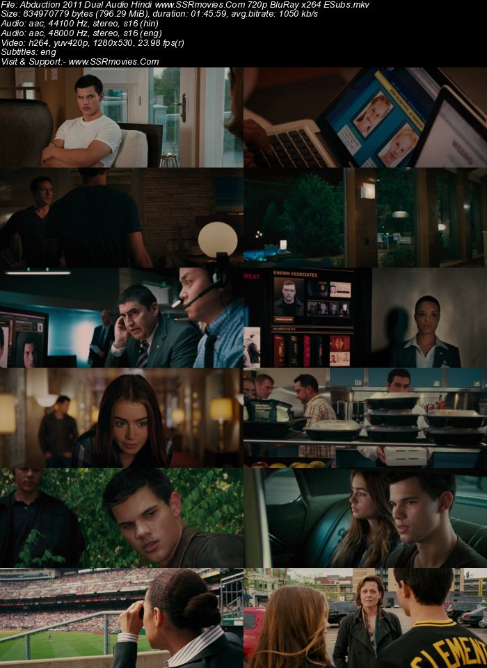 Abduction (2011) Dual Audio Hindi 720p BluRay 800MB ESubs Full Movie Download