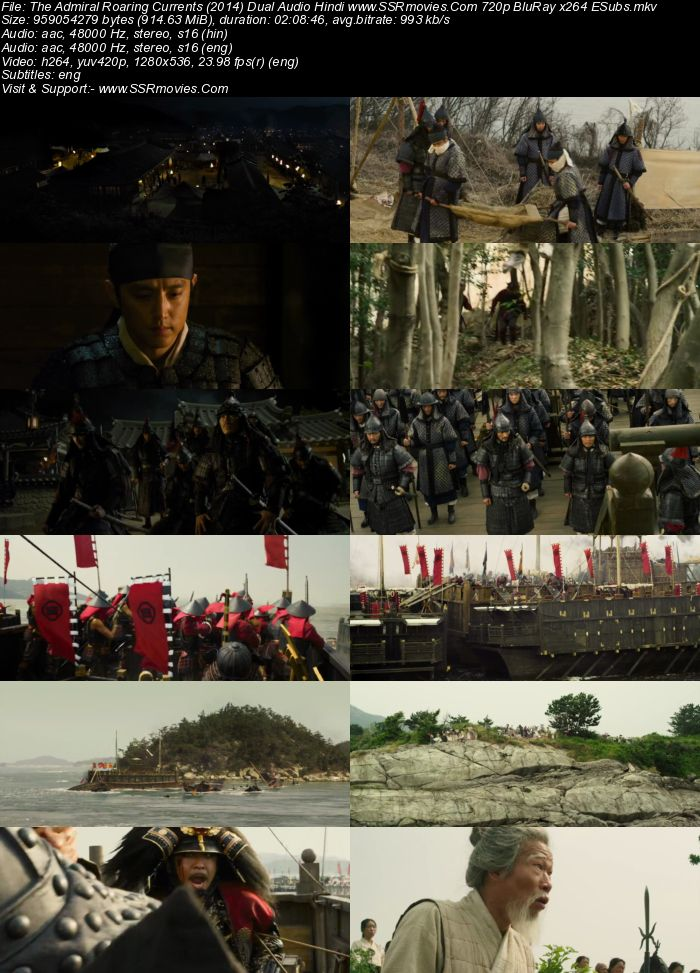 The Admiral: Roaring Currents (2014) Dual Audio Hindi 720p BluRay x264 900MB Full Movie Download