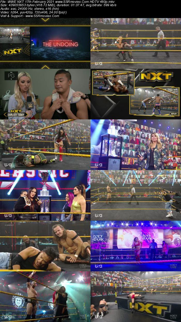 WWE NXT 17th February 2021 HDTV 480p Full Show Download