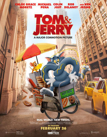 Tom and Jerry (2021) Dual Audio Hindi (Cleaned) 480p HDCAM 300MB Full Movie Download