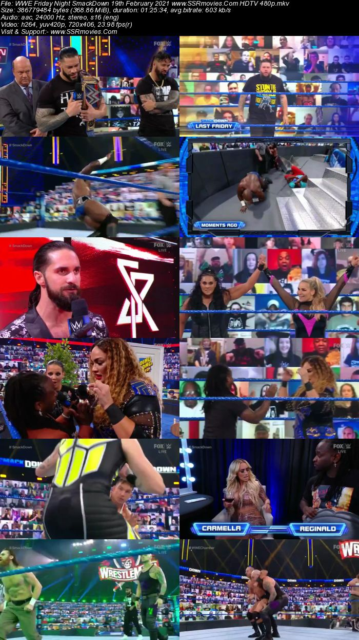 WWE Friday Night SmackDown 19th February 2021 Full Show Download