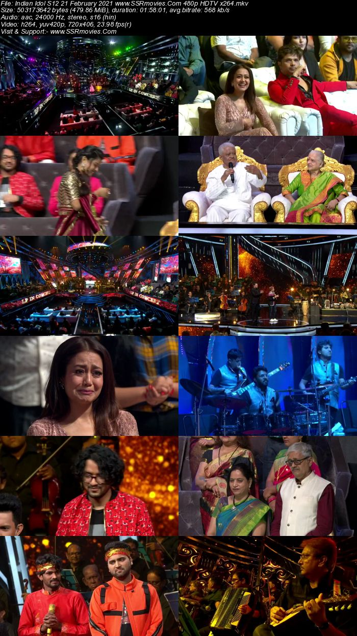 Indian Idol S12 21st February 2021 480p 720p HDTV x264 300MB Download