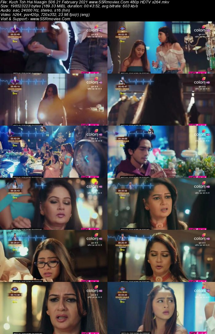 Kuch Toh Hai Naagin S06 21 February 2021 480p 720p HDTV 200MB Download