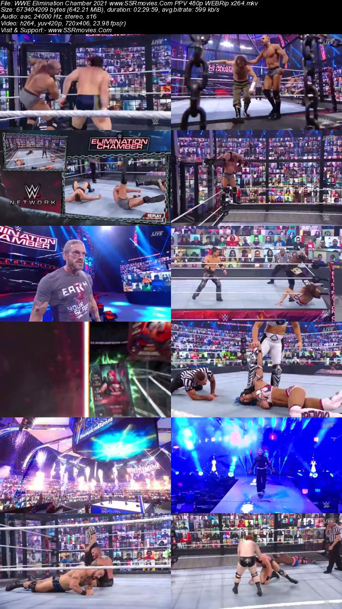 WWE Elimination Chamber 2021 PPV 720p 480p WEBRip x264 Download