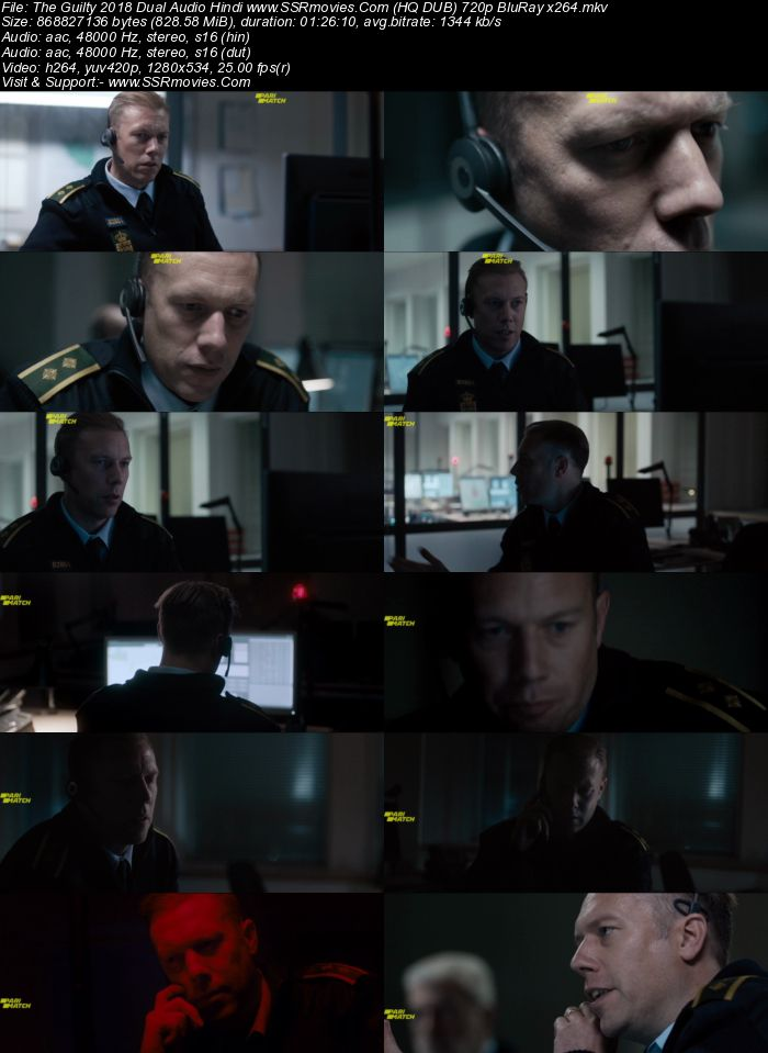 The Guilty (2018) Dual Audio Hindi 720p BluRay x264 800MB Full Movie Download