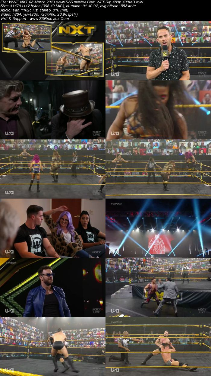 WWE NXT 3rd March 2021 HDTV 480p Full Show Download
