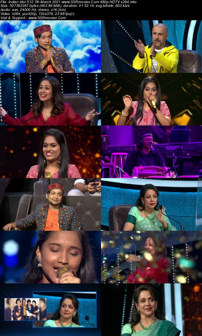 Indian Idol S12 7th March 2021 480p 720p HDTV x264 300MB Download