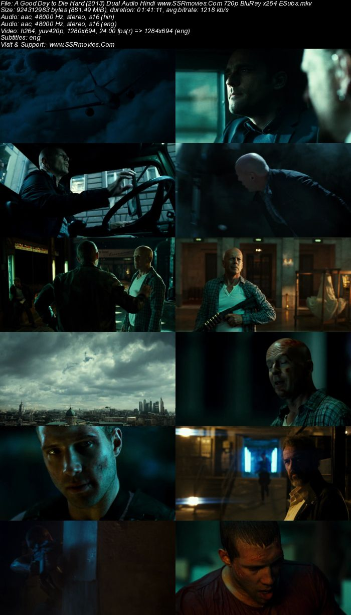 A Good Day to Die Hard (2013) Dual Audio Hindi 720p BluRay x264 850MB Full Movie Download