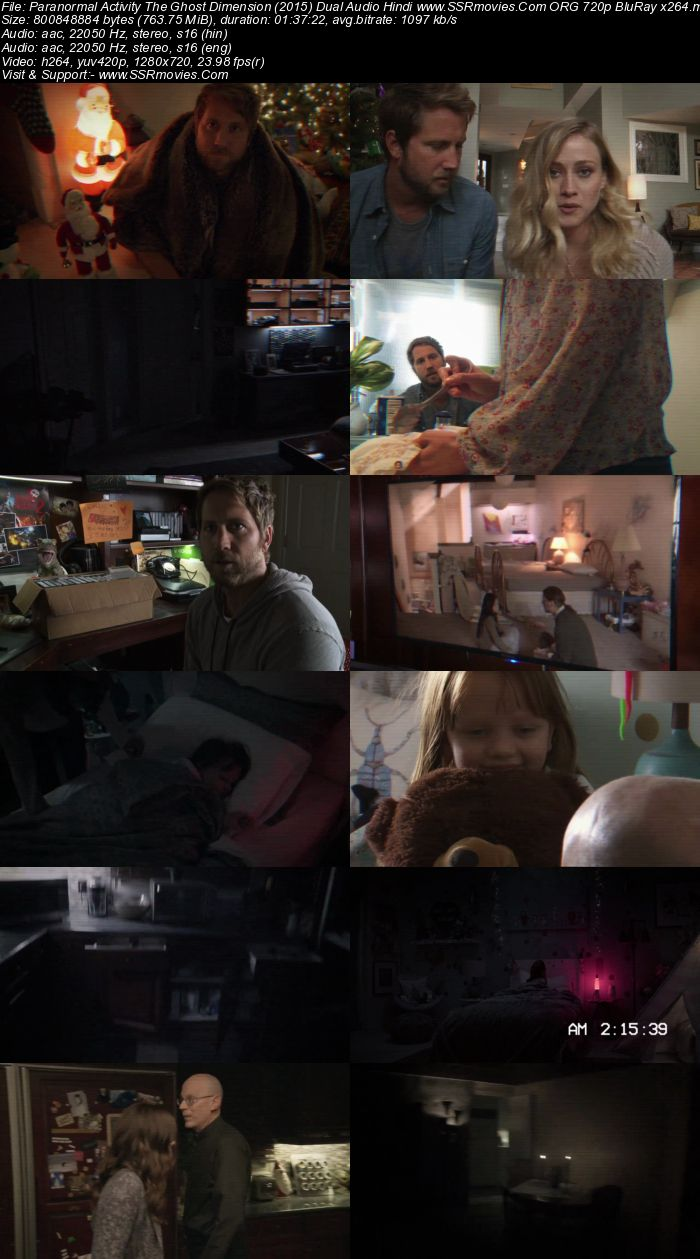 Paranormal Activity: The Ghost Dimension (2015) Dual Audio Hindi 720p BluRay x264 750MB Full Movie Download
