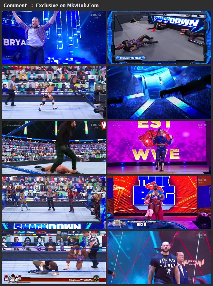 WWE Friday Night SmackDown 12th March 2021 720p WEBRip 750MB Download