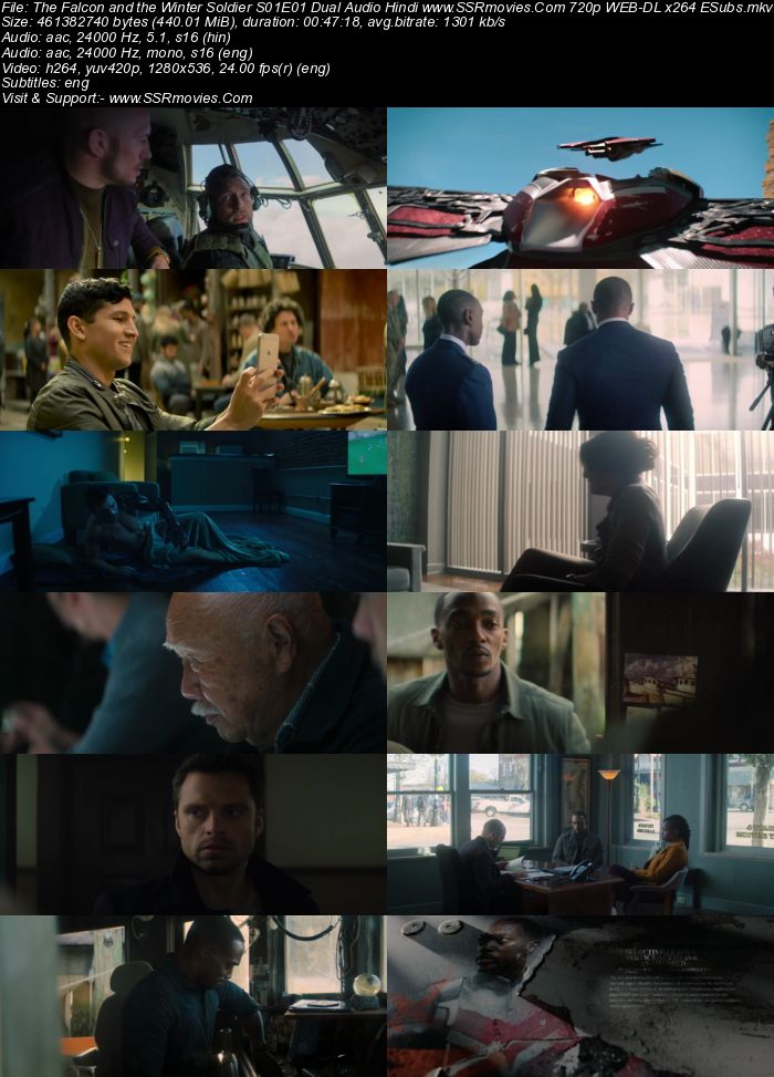 The Falcon and the Winter Soldier (2021) Dual Audio Hindi 720p 480p WEB-DL x264 450MB Full Movie Download