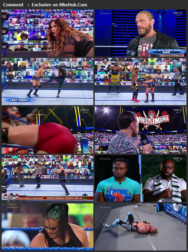 WWE Friday Night SmackDown 19 March 2021 720p HDTV x264 750MB Download