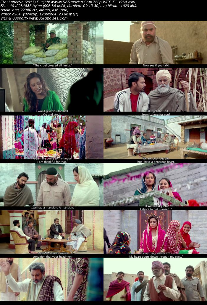 Lahoriye (2017) Punjabi 720p WEB-DL x264 950MB Full Movie Download