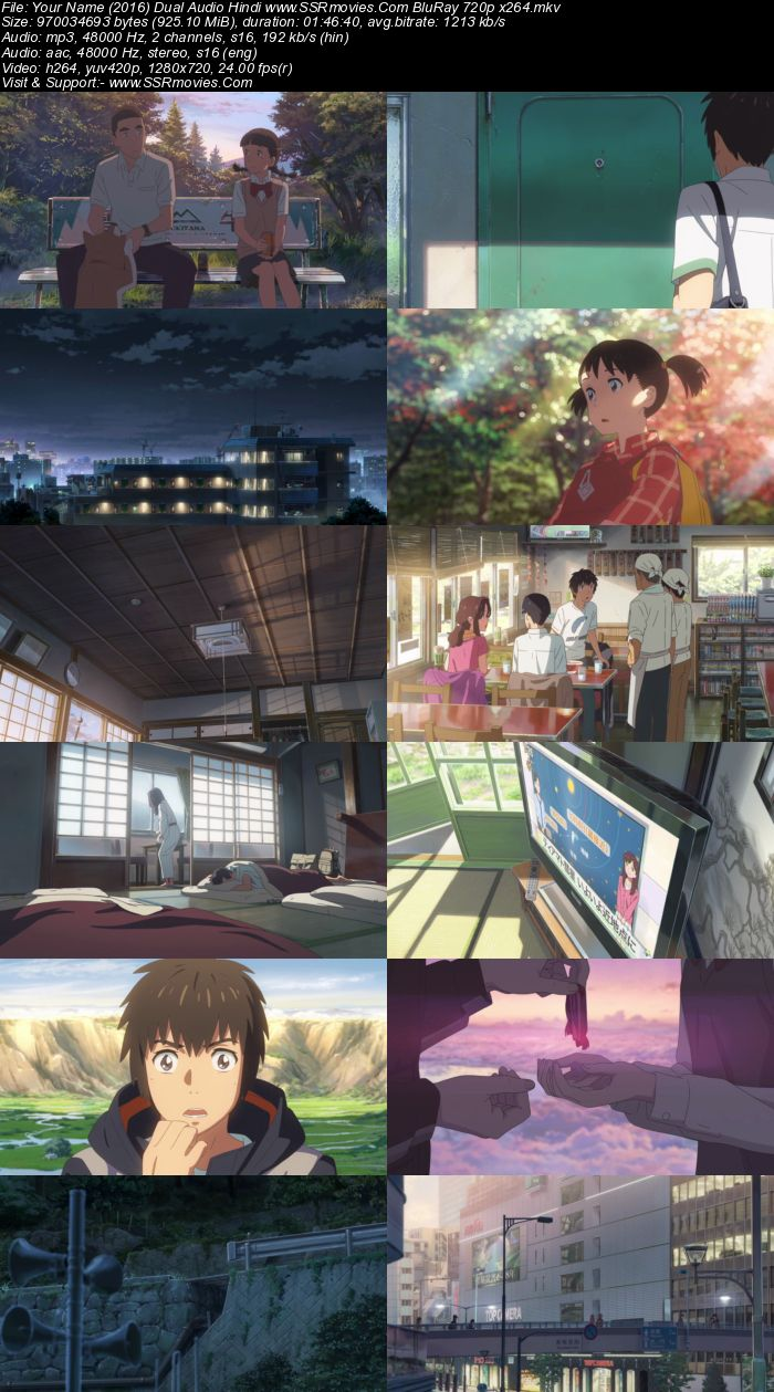Your Name. (2016) Dual Audio Hindi 720p BluRay x264 900MB Full Movie Download