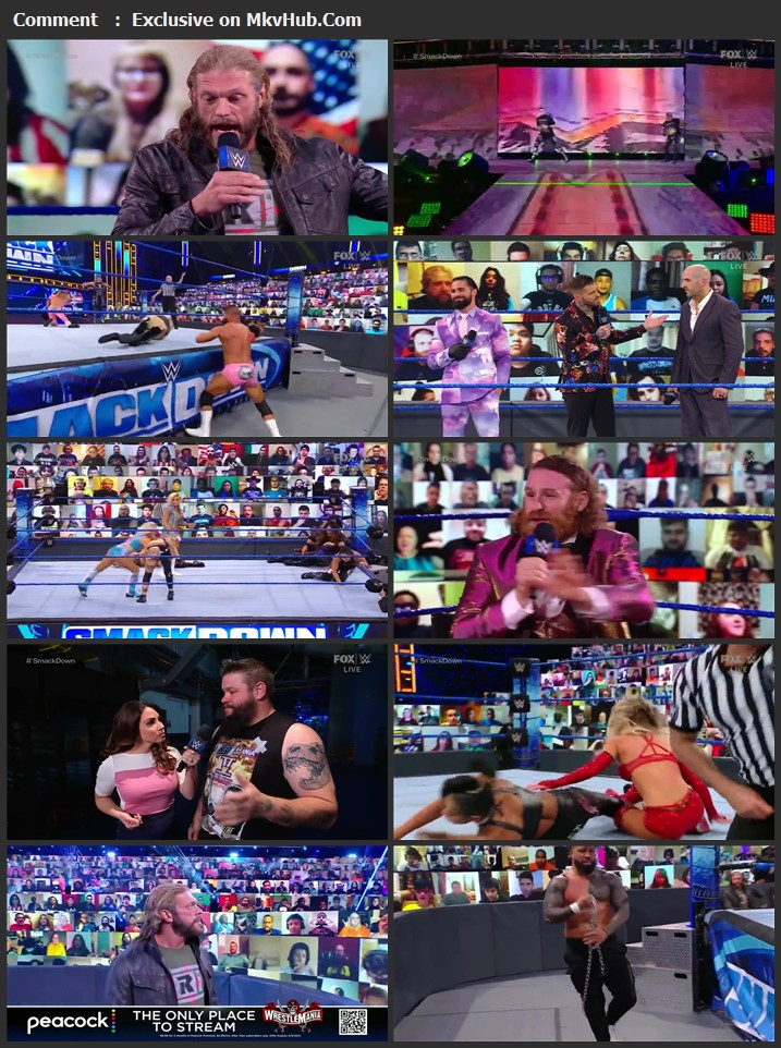 WWE Friday Night SmackDown 2nd April 2021 720p HDTV x264 700MB Download