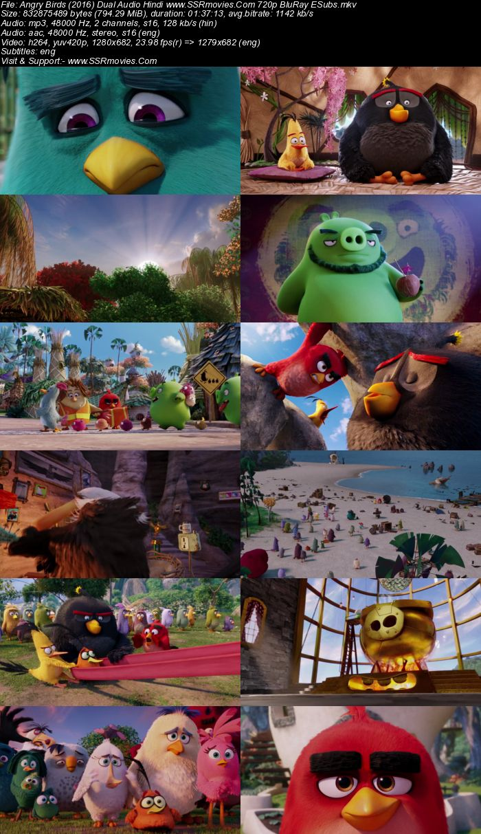 The Angry Birds Movie (2016) Dual Audio Hindi 720p BluRay x264 800MB Full Movie Download