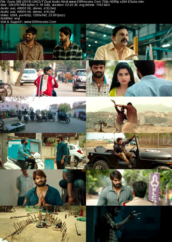 Guna 369 (2019) UNCUT Dual Audio Hindi 480p HDRip x264 450MB ESubs Full Movie Download