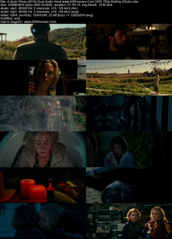 A Quiet Place (2018) Dual Audio Hindi 720p BluRay x264 800MB Full Movie Download