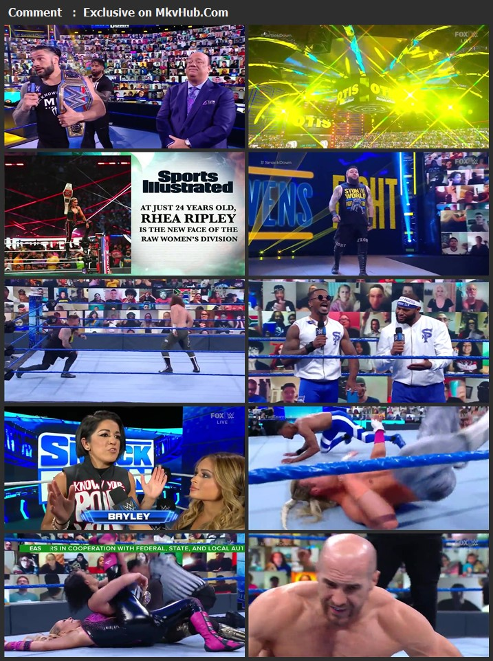 WWE Friday Night SmackDown 16 April 2021 720p HDTV x264 700MB Download