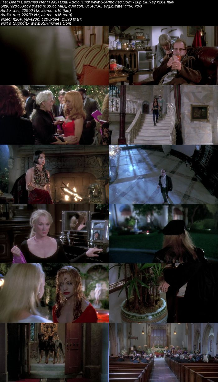 Death Becomes Her (1992) Dual Audio Hindi 720p BluRay x264 850MB Full Movie Download