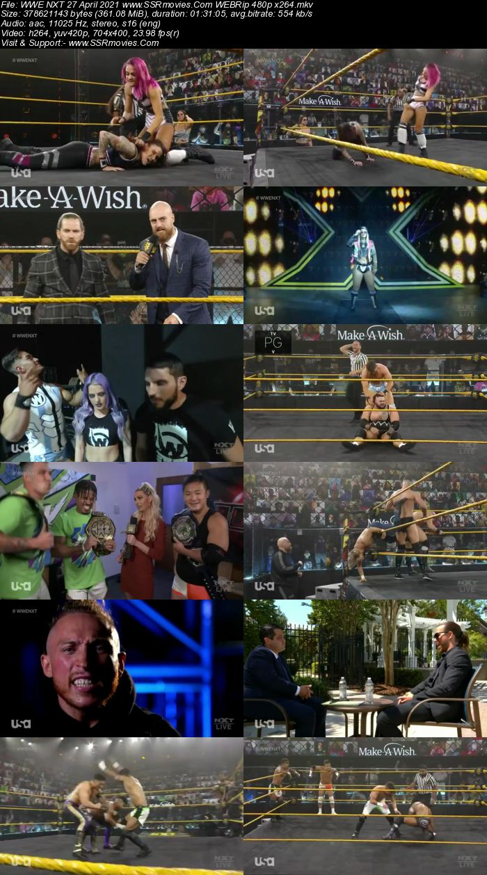 WWE NXT 27th April 2021 HDTV 480p Full Show Download