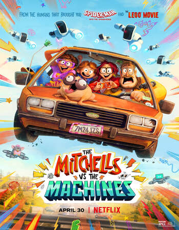 The Mitchells vs. the Machines (2021) Dual Audio Hindi 720p WEB-DL x264 900MB Full Movie Download