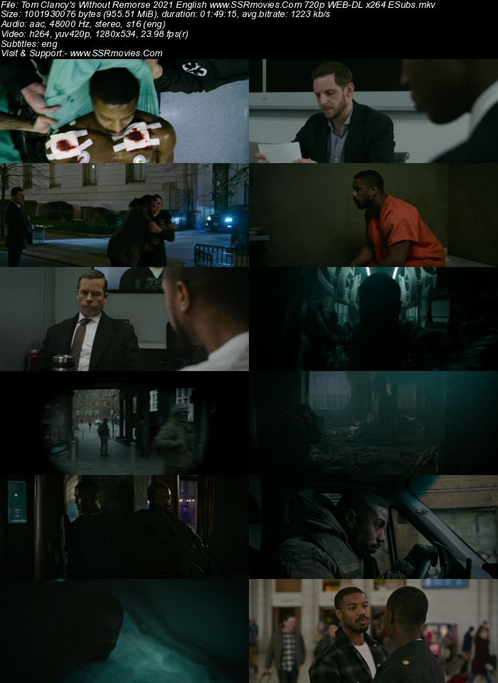 Tom Clancy's Without Remorse (2021) English 720p WEB-DL x264 950MB Full Movie Download