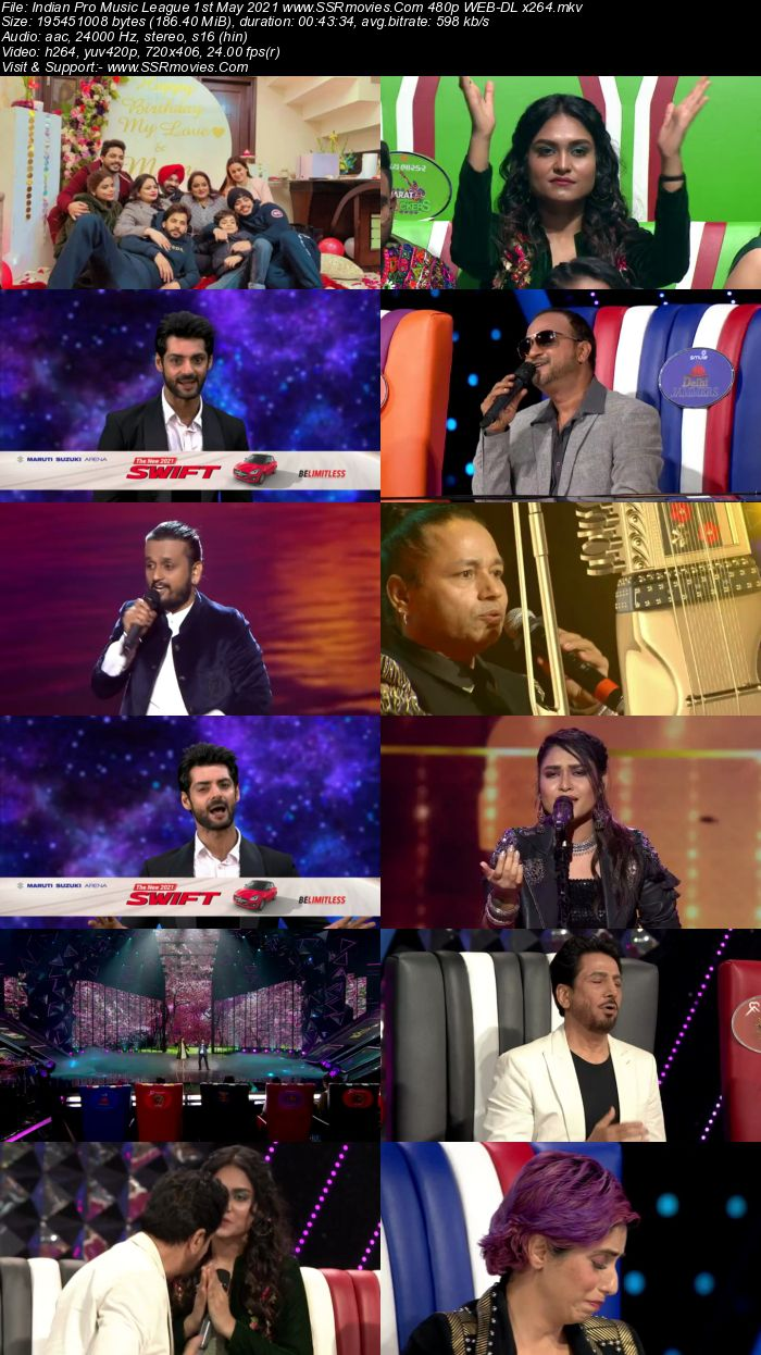 Indian Pro Music League 1st May 2021 480p 720p WEB-DL 300MB Download