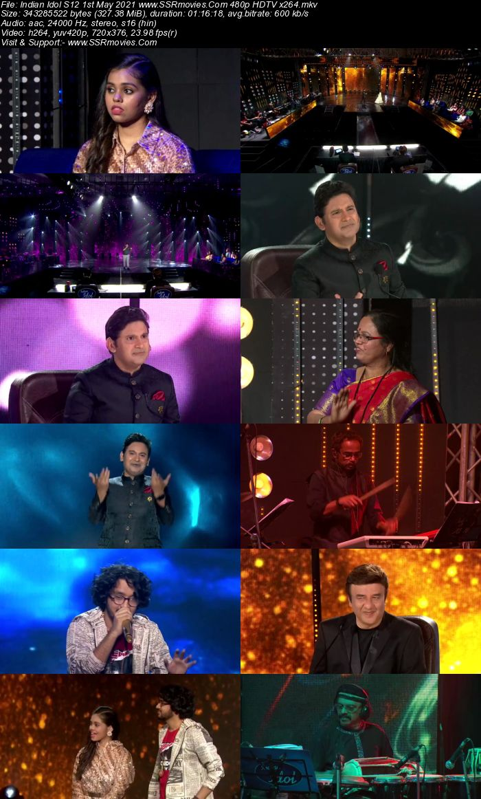 Indian Idol S12 1st May 2021 480p 720p HDTV x264 550MB Download