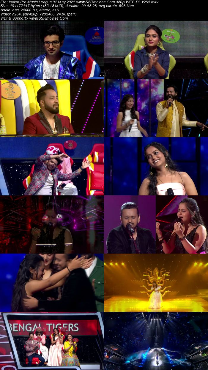 Indian Pro Music League 2nd May 2021 480p 720p WEB-DL 300MB Download