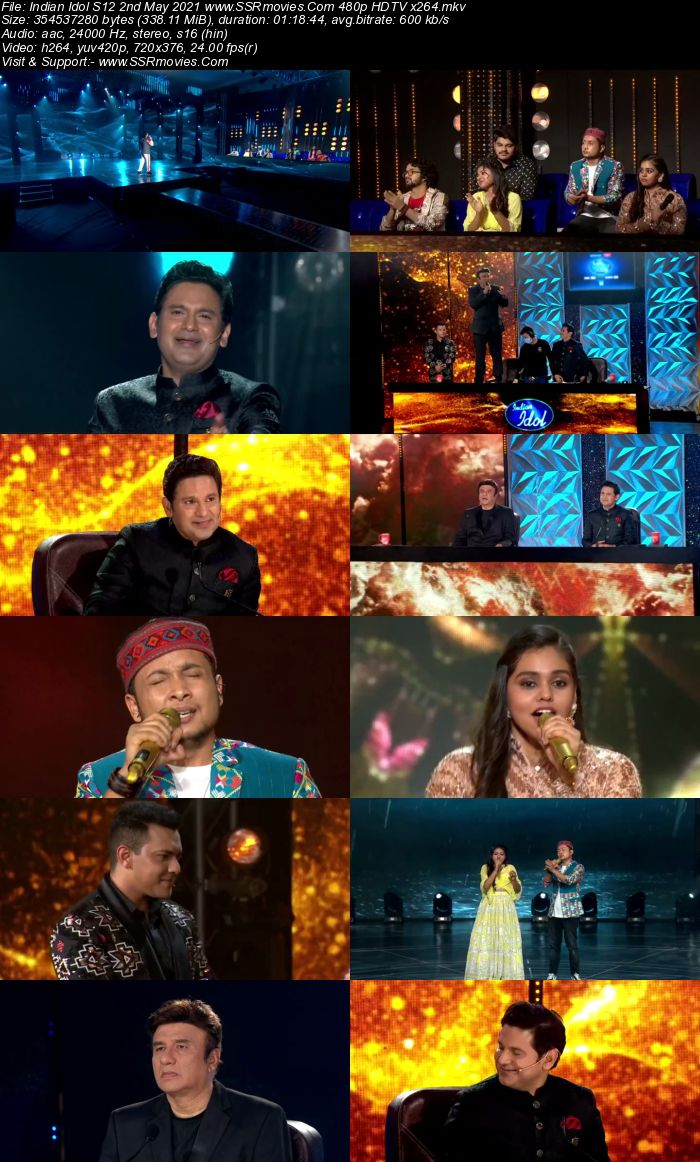 Indian Idol S12 2nd May 2021 480p 720p HDTV x264 550MB Download