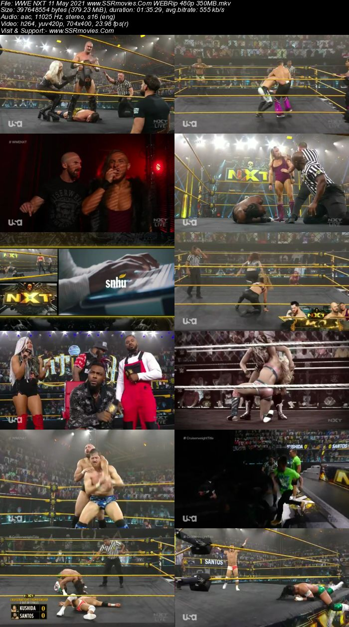 WWE NXT 11th May 2021 HDTV 480p Full Show Download