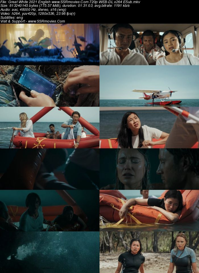 Great White (2021) English 720p WEB-DL x264 750MB Full Movie Download