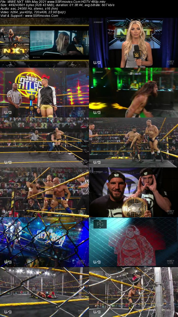 WWE NXT 18th May 2021 HDTV 480p Full Show Download